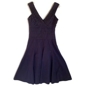 Odille dress size 6 navy fit & flare pintucks